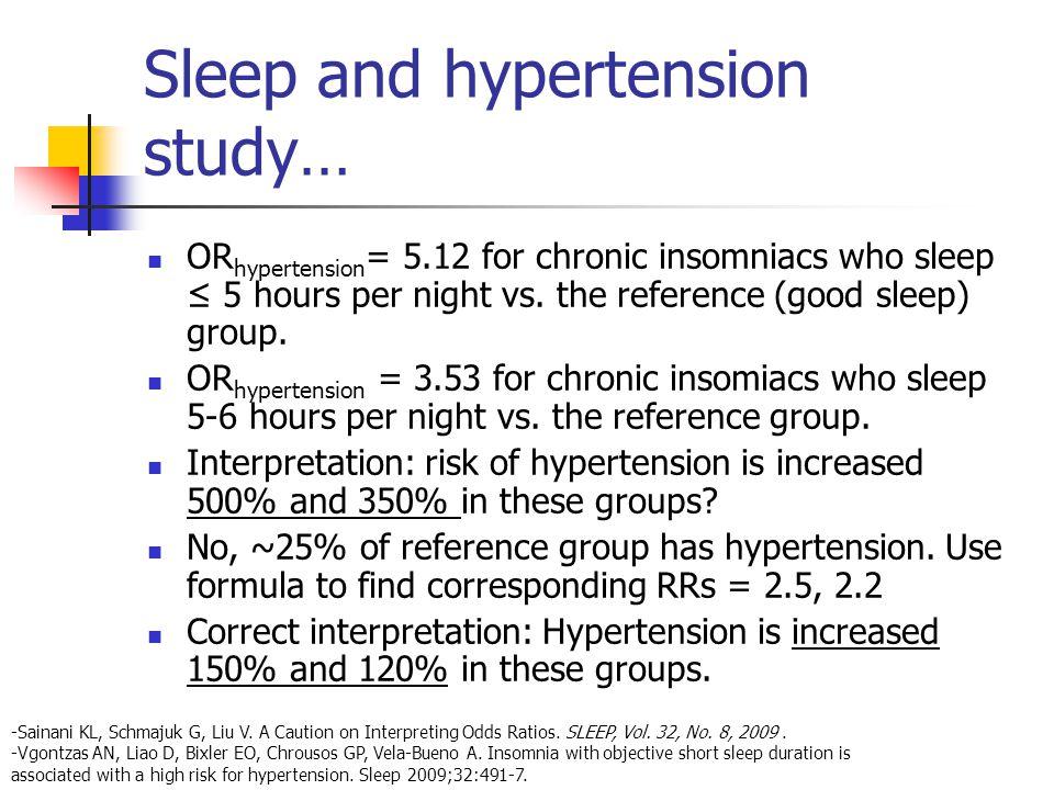Sleep and hypertension study…