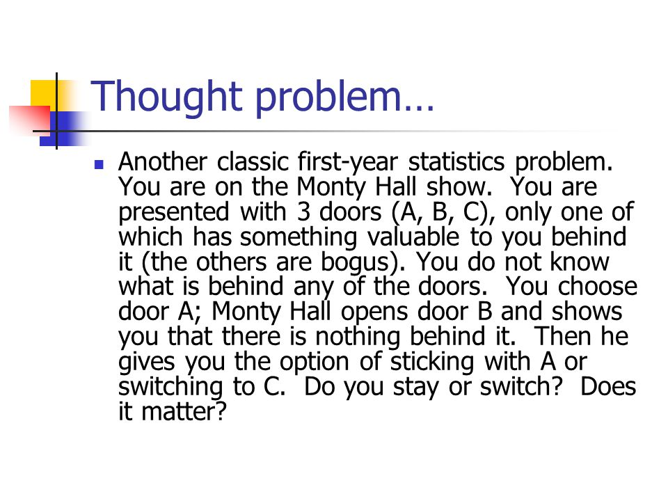 Thought problem…