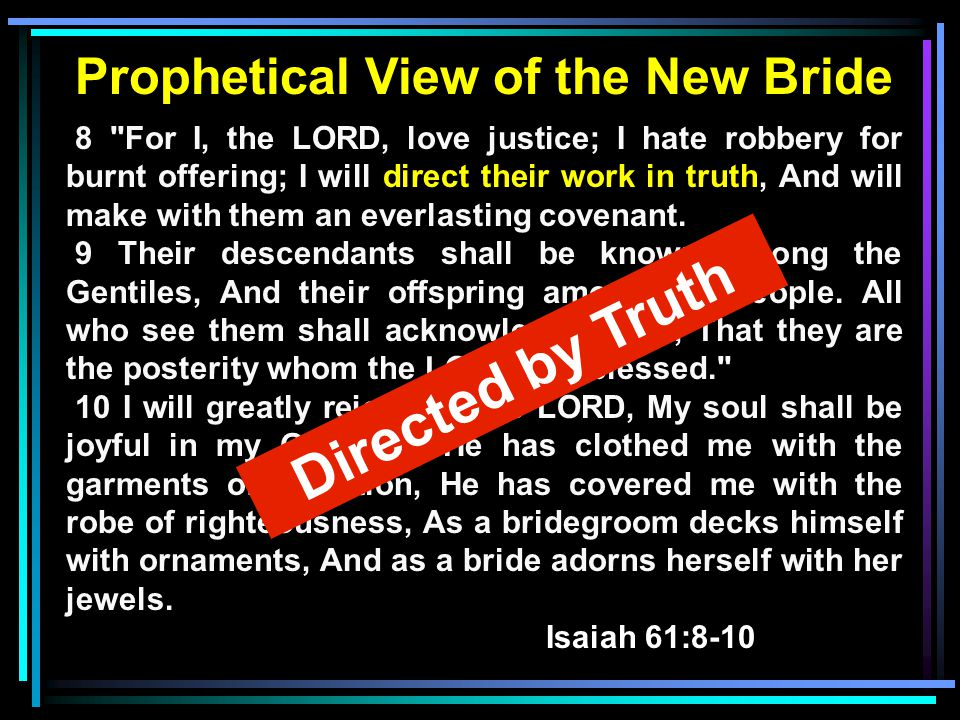 Prophetical View of the New Bride