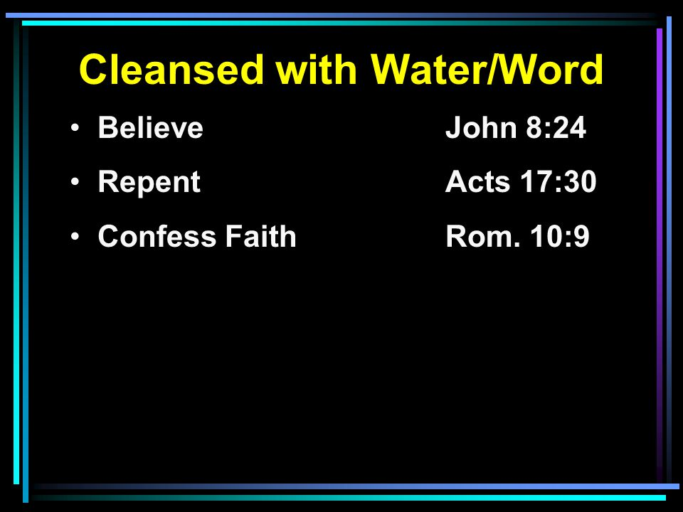 Cleansed with Water/Word