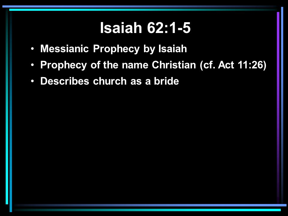 Isaiah 62:1-5 Messianic Prophecy by Isaiah