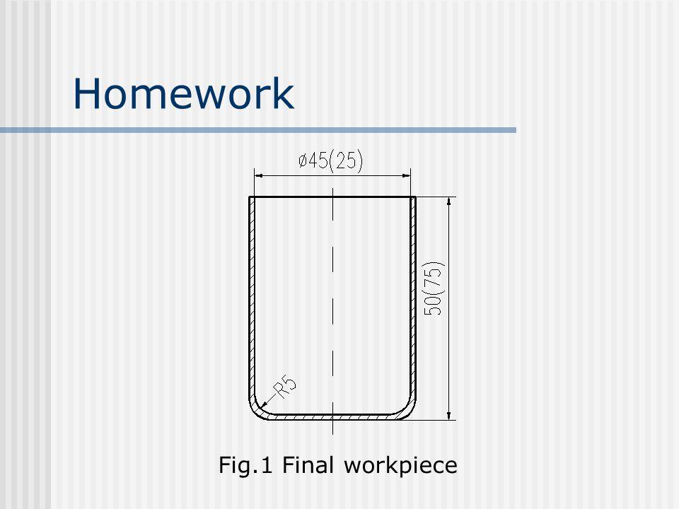 Homework Fig.1 Final workpiece
