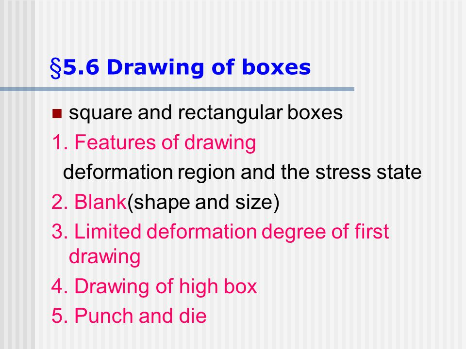 §5.6 Drawing of boxes square and rectangular boxes
