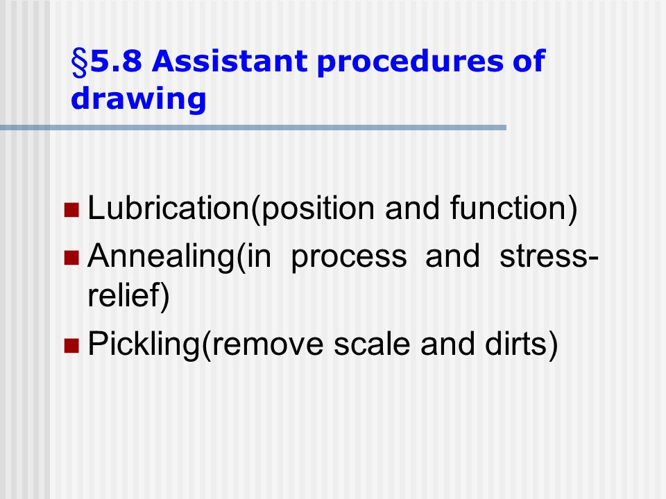 §5.8 Assistant procedures of drawing