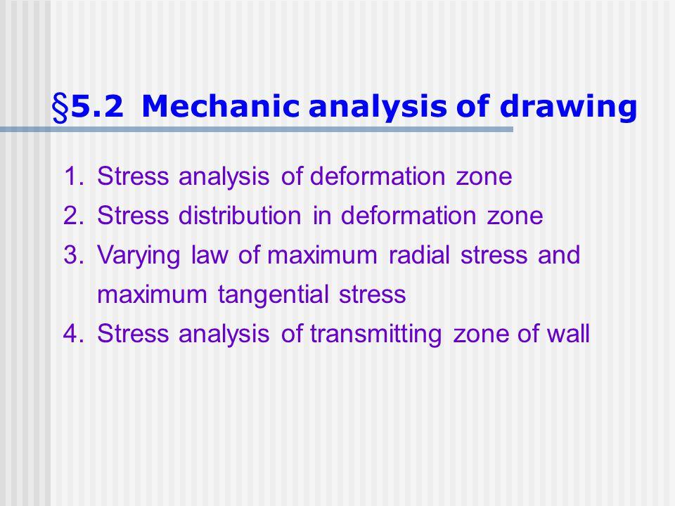 §5.2 Mechanic analysis of drawing