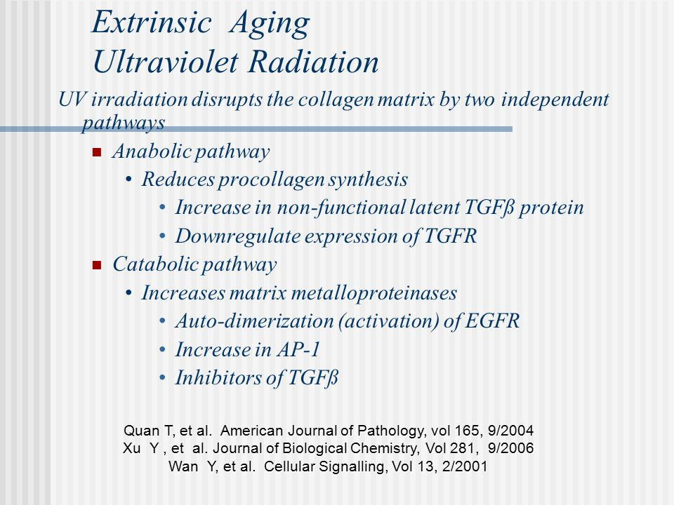 Extrinsic Aging Ultraviolet Radiation