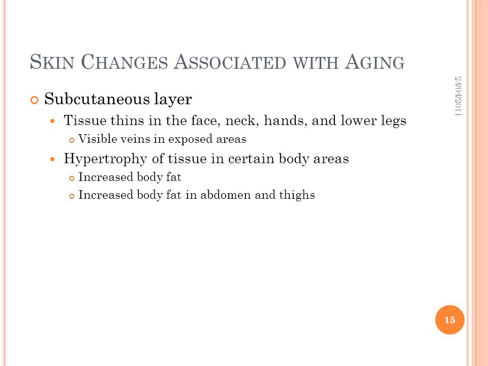 Skin Changes Associated with Aging