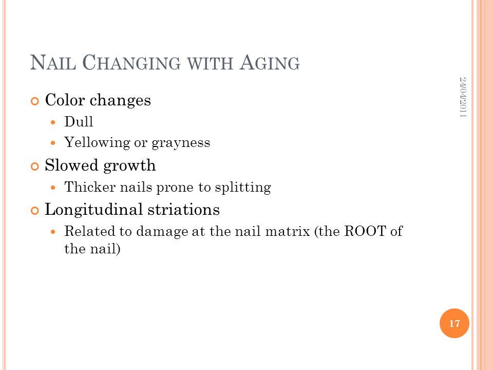 Nail Changing with Aging