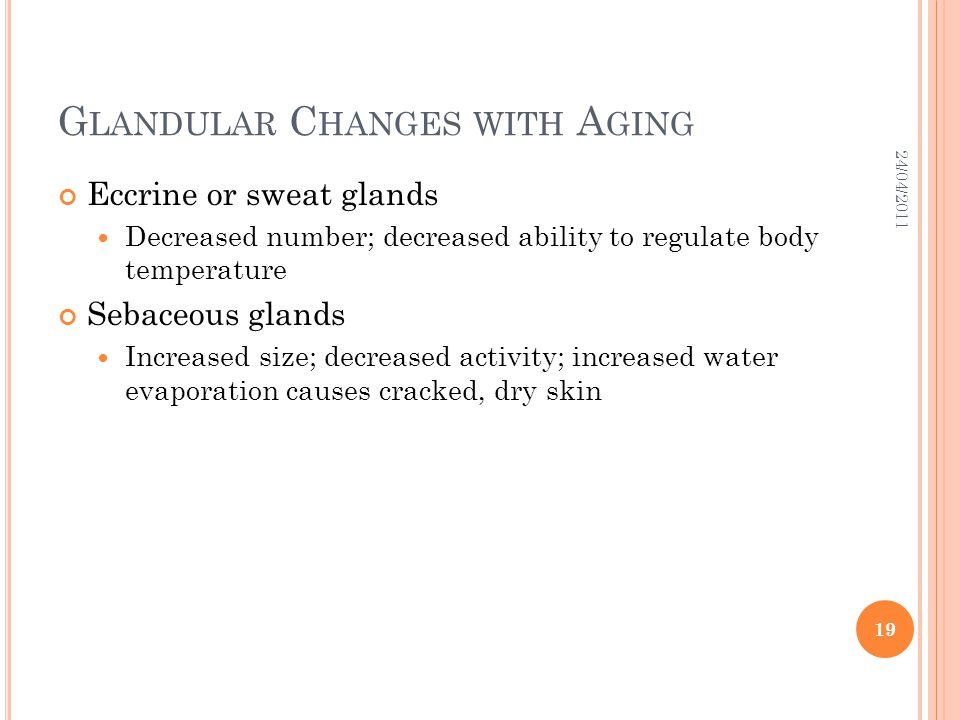 Glandular Changes with Aging
