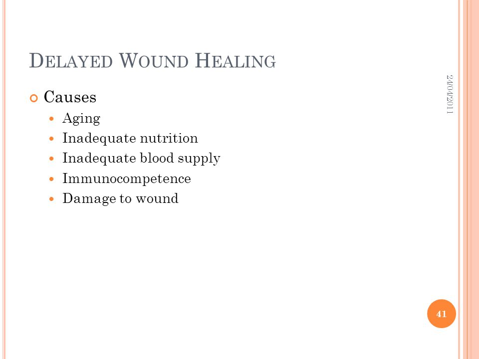 Delayed Wound Healing Causes Aging Inadequate nutrition