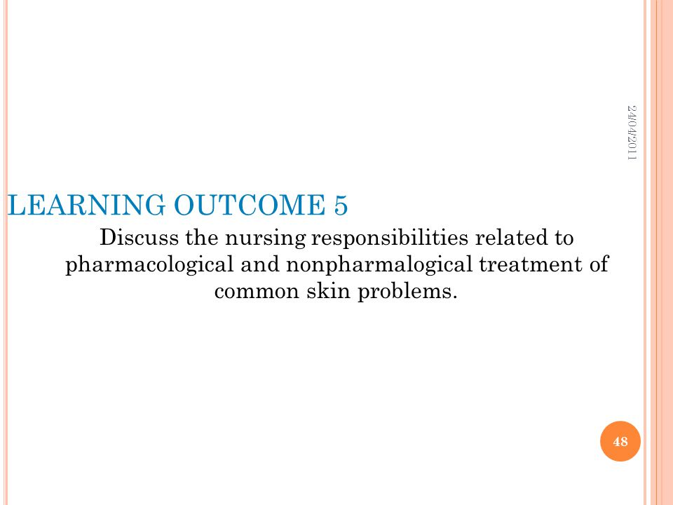 24/04/2011 LEARNING OUTCOME 5.