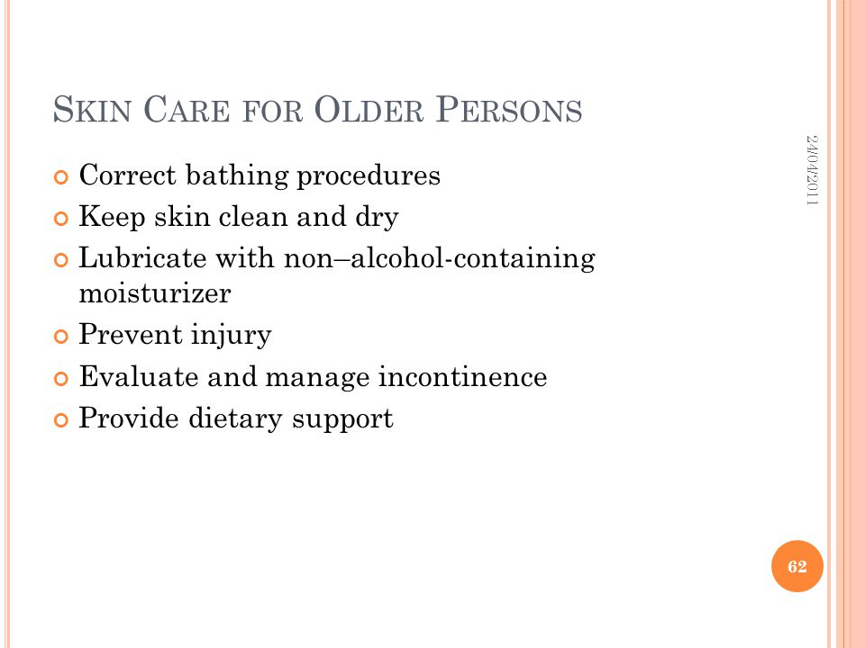 Skin Care for Older Persons