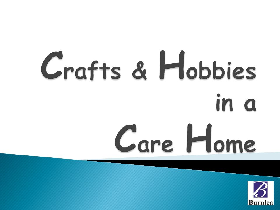 Crafts & Hobbies in a Care Home