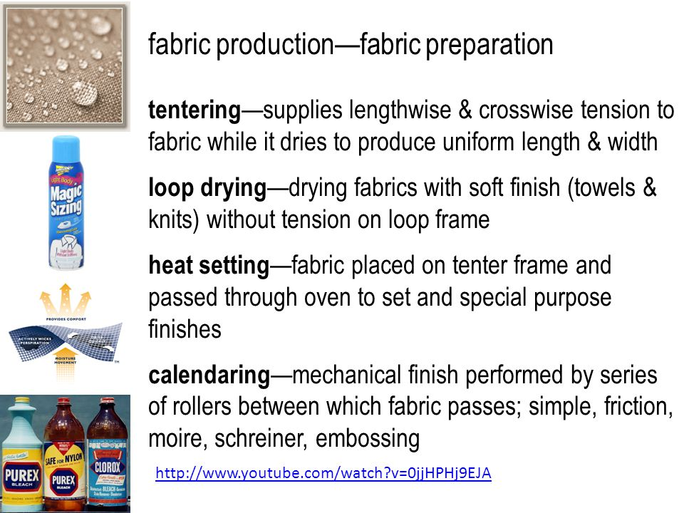 fabric production—fabric preparation