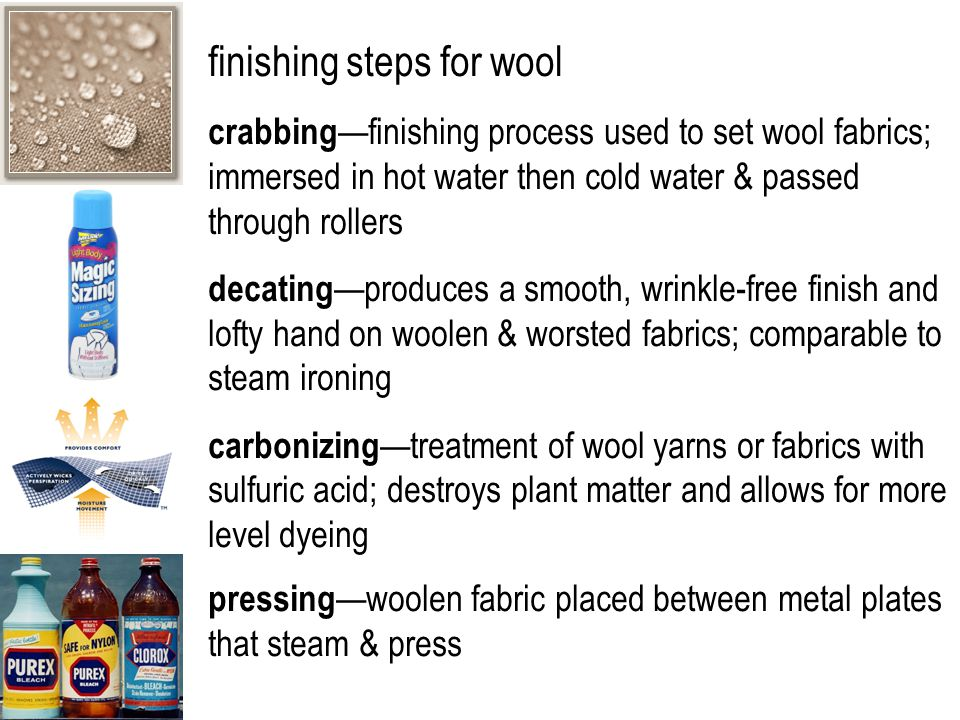 finishing steps for wool