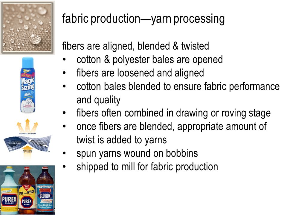 fabric production—yarn processing