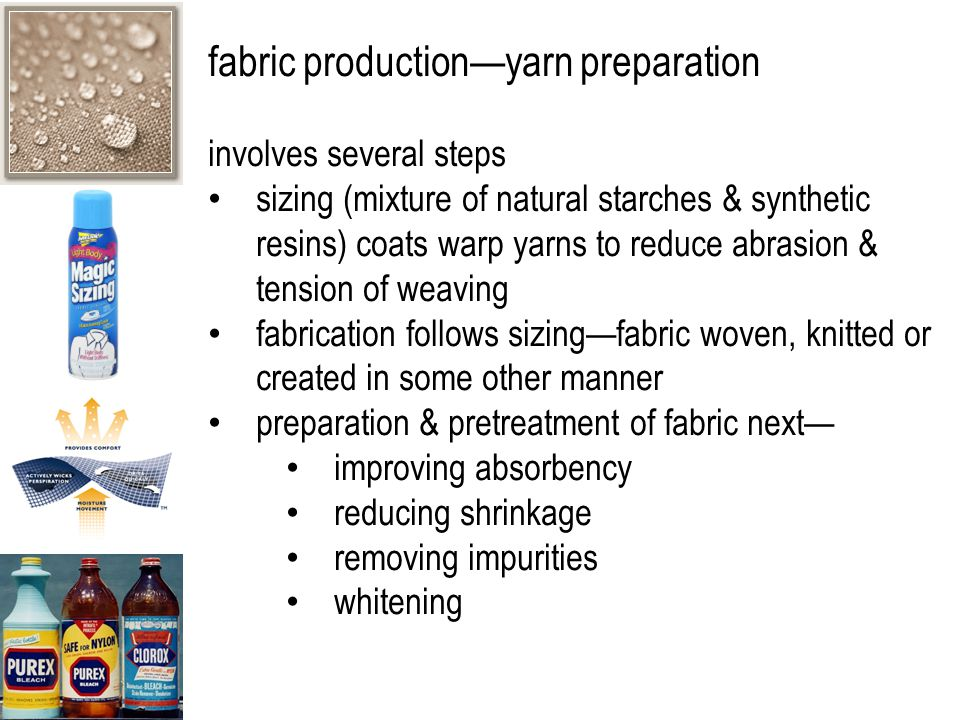 fabric production—yarn preparation