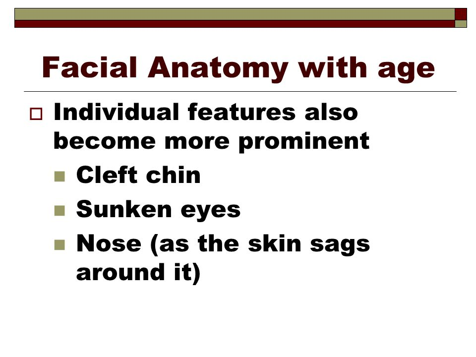 Facial Anatomy with age