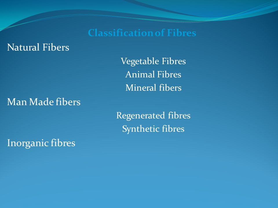 Classification of Fibres