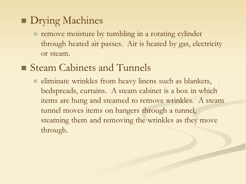 Steam Cabinets and Tunnels