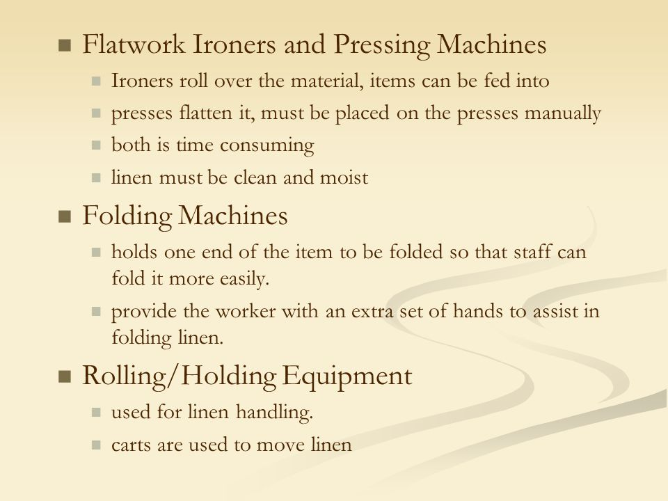 Flatwork Ironers and Pressing Machines