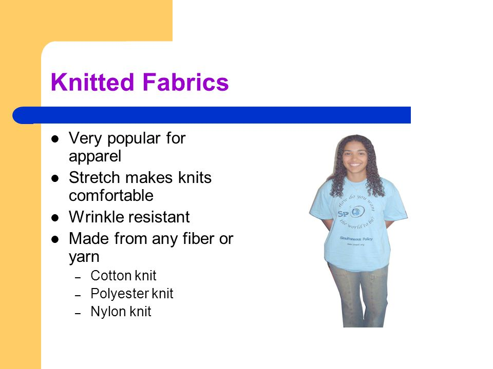 Knitted Fabrics Very popular for apparel