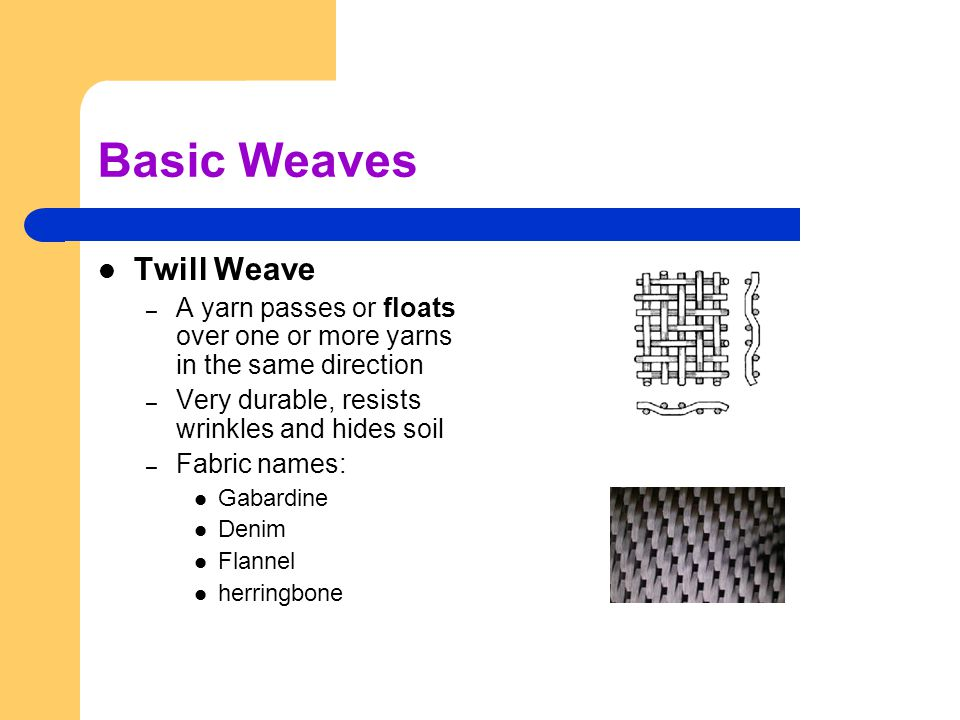 Basic Weaves Twill Weave