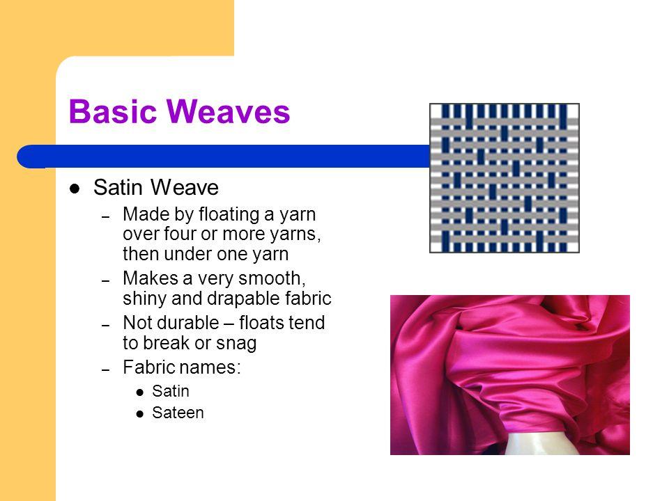 Basic Weaves Satin Weave