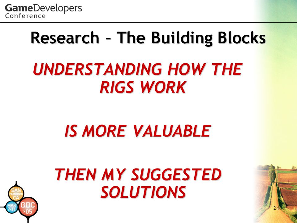 Research – The Building Blocks