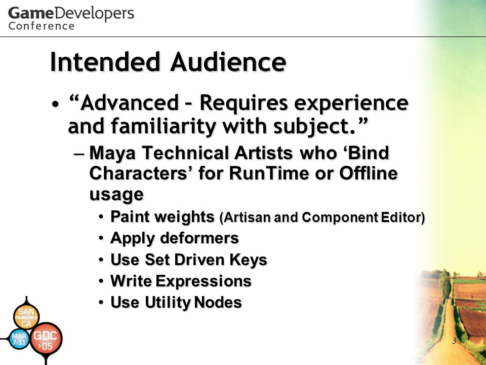 Intended Audience Advanced – Requires experience and familiarity with subject.