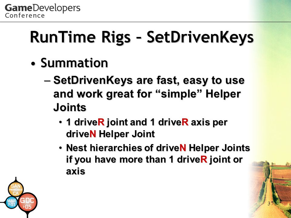RunTime Rigs – SetDrivenKeys