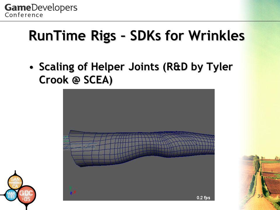 RunTime Rigs – SDKs for Wrinkles