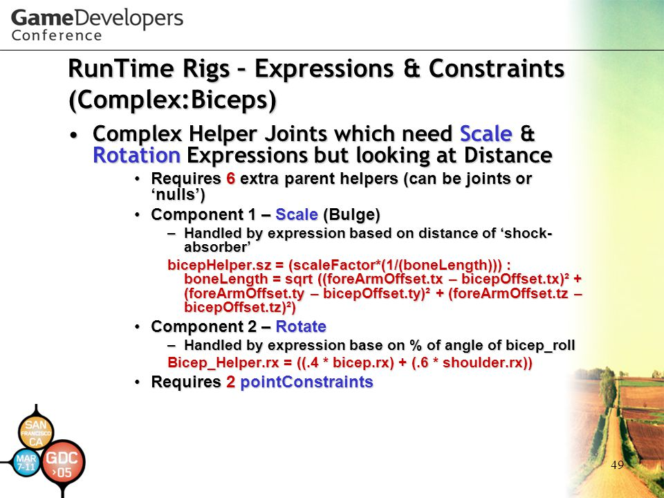 RunTime Rigs – Expressions & Constraints (Complex:Biceps)