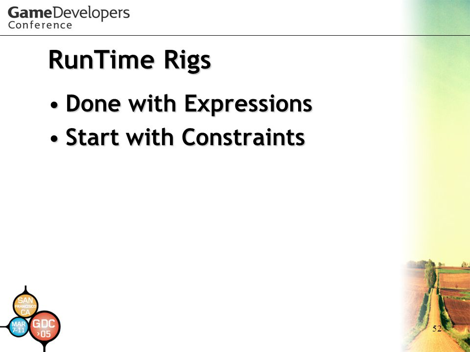 RunTime Rigs Done with Expressions Start with Constraints