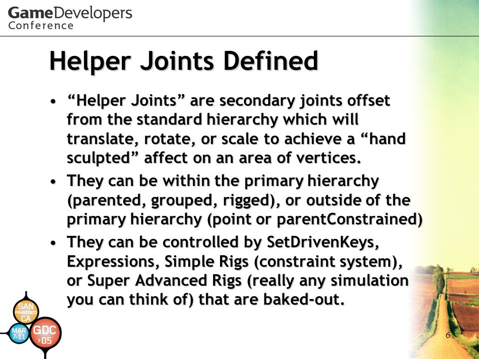 Helper Joints Defined