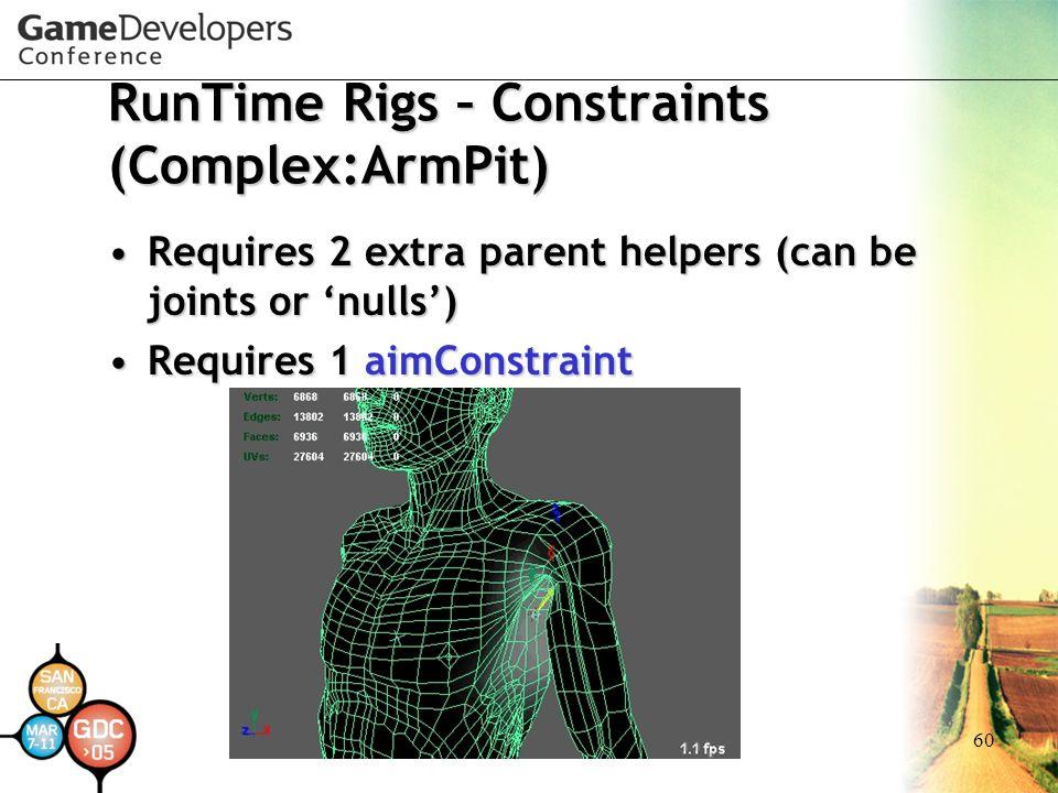 RunTime Rigs – Constraints (Complex:ArmPit)