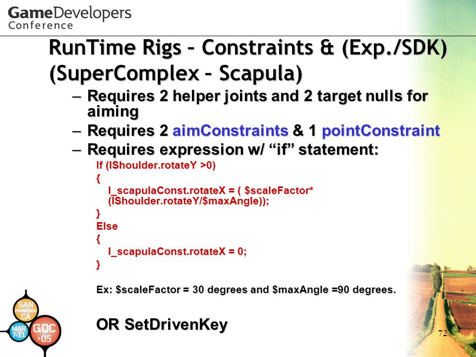RunTime Rigs – Constraints & (Exp./SDK) (SuperComplex – Scapula)