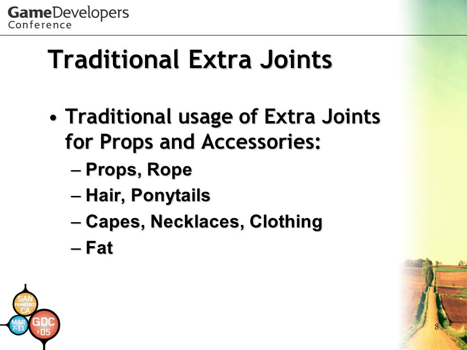 Traditional Extra Joints
