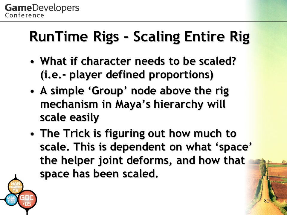 RunTime Rigs – Scaling Entire Rig
