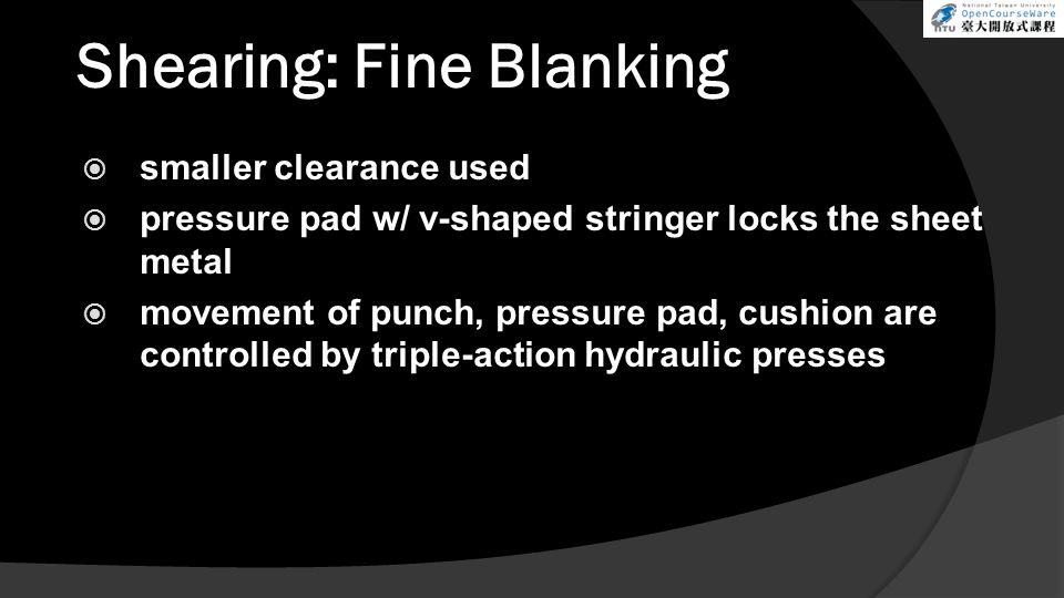 Shearing: Fine Blanking