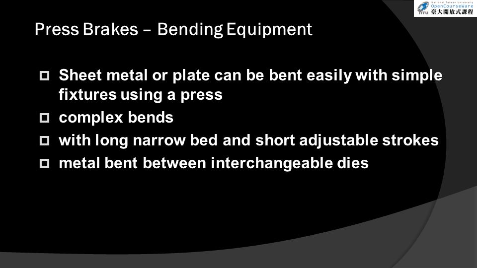 Press Brakes – Bending Equipment