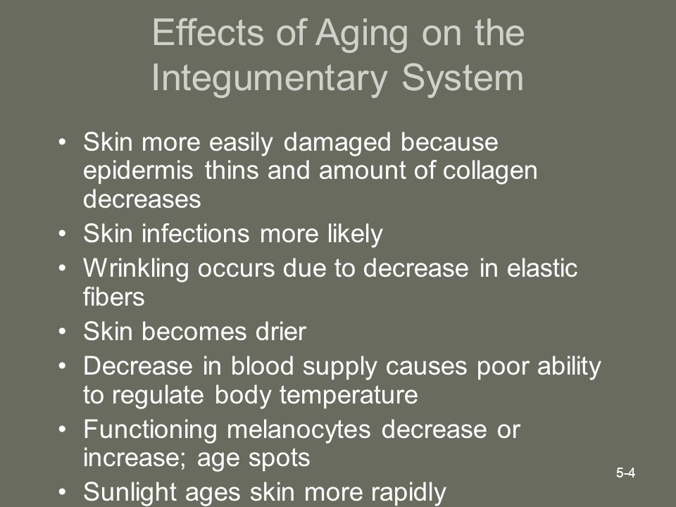 Effects of Aging on the Integumentary System