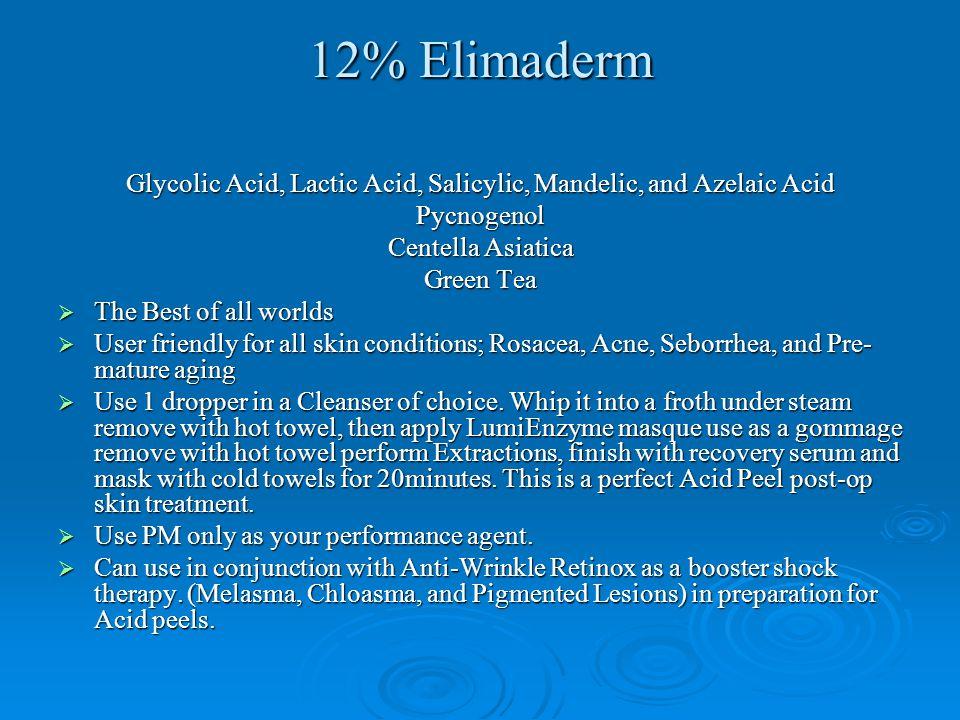 Glycolic Acid, Lactic Acid, Salicylic, Mandelic, and Azelaic Acid