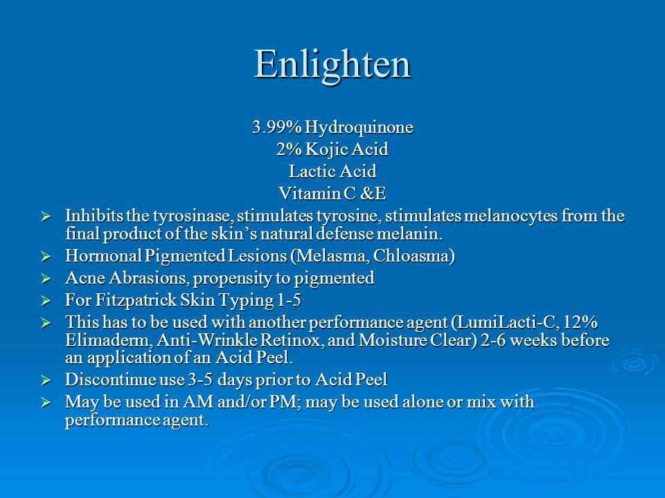 Enlighten 3.99% Hydroquinone 2% Kojic Acid Lactic Acid Vitamin C &E