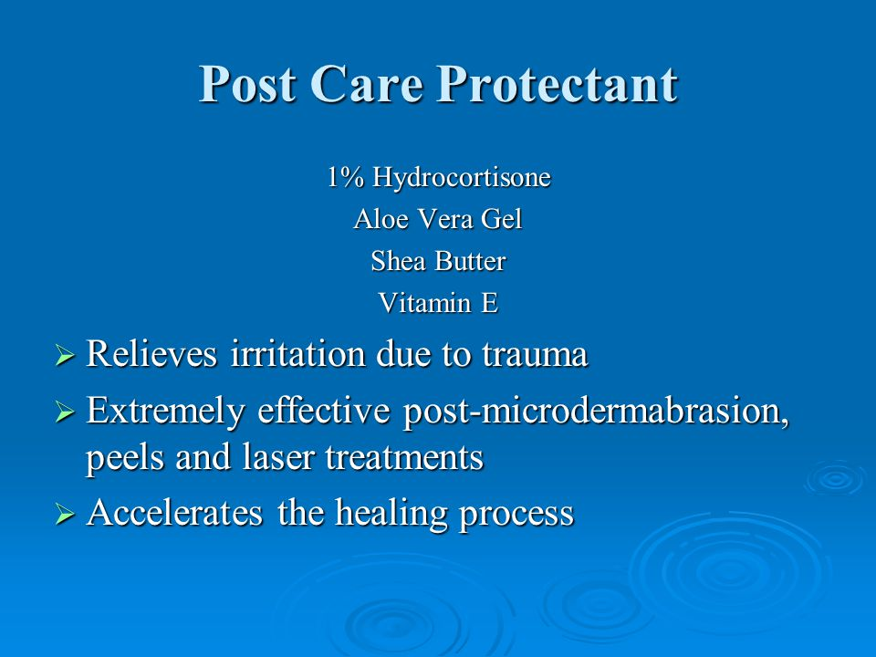Post Care Protectant Relieves irritation due to trauma