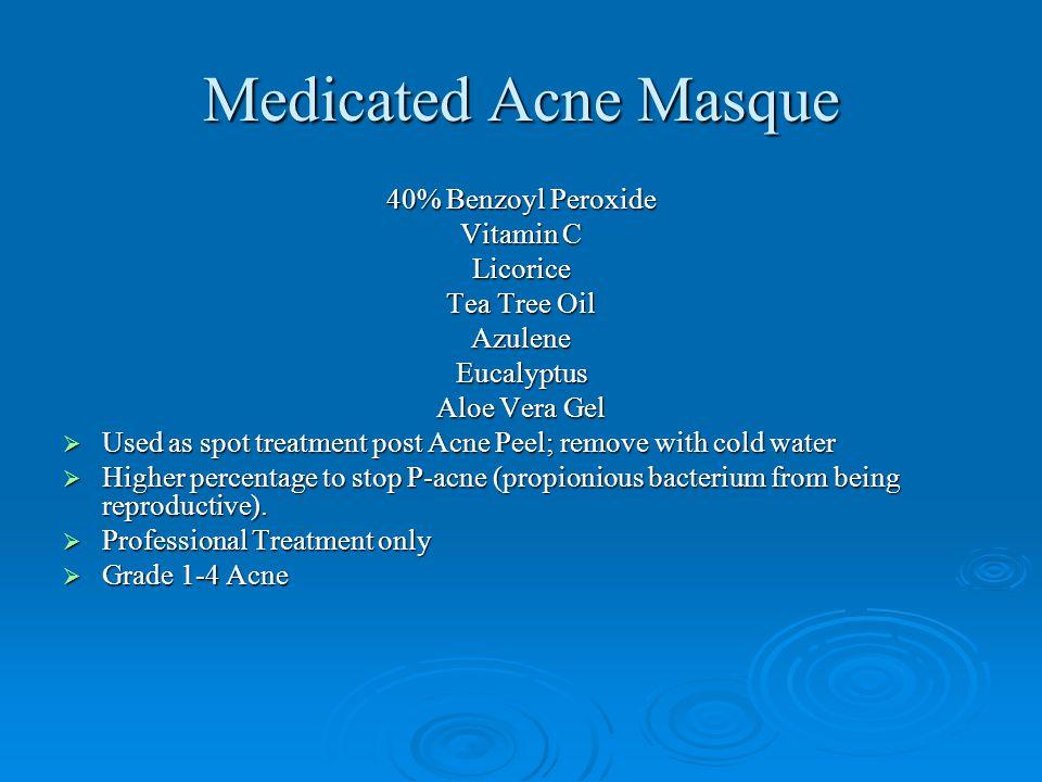Medicated Acne Masque 40% Benzoyl Peroxide Vitamin C Licorice