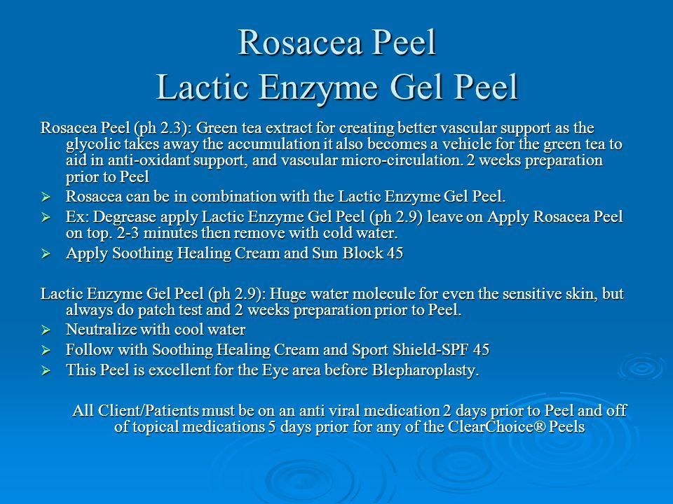 Rosacea Peel Lactic Enzyme Gel Peel