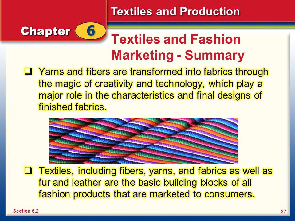 Textiles and Fashion Marketing - Summary
