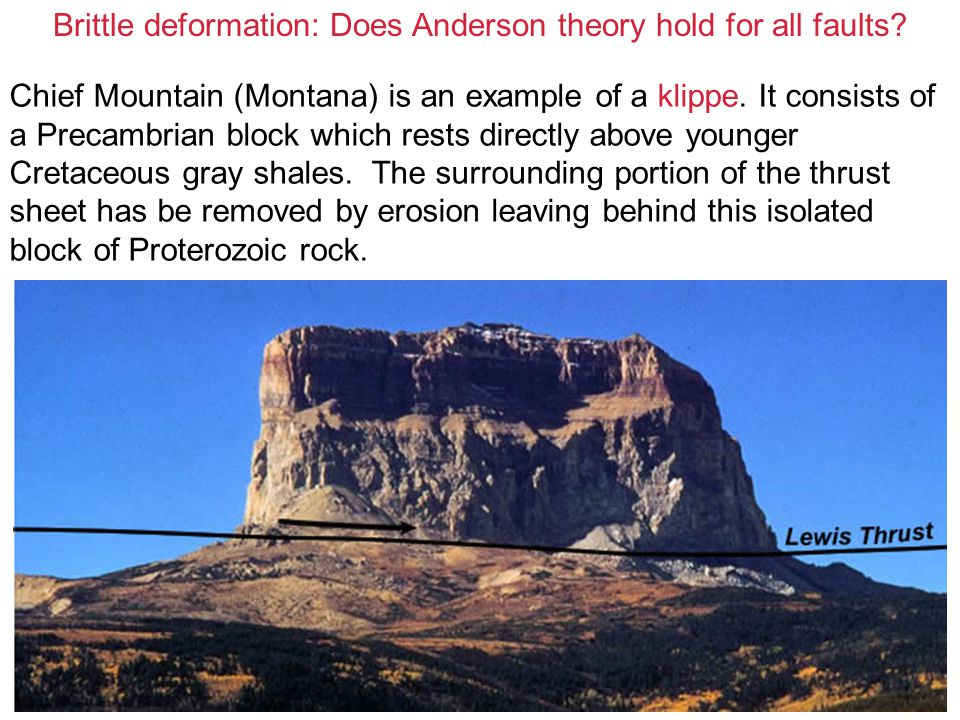 Brittle deformation: Does Anderson theory hold for all faults