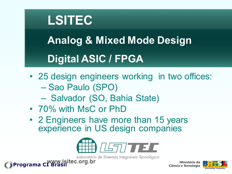 LSITEC Analog & Mixed Mode Design Digital ASIC / FPGA